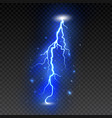 bright lightning on transparent background vector image