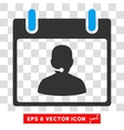 Call Center Manager Calendar Day Eps Icon vector image vector image