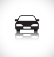 Car icon with shadow vector image