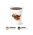 Card template with coffee cup vector image vector image