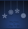 christmas background with snowflake garland vector image vector image