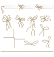 Collection of ribbons ahd bows in rope style vector image vector image