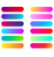 colorful rounded icon templates isolated on white vector image vector image