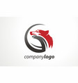 company logo wolf sign symbol mark vector image