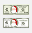design template 100 dollars banknote with santa vector image vector image