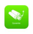 dynamite icon green vector image