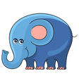 Elephant Cartoon african wild animal character vector image
