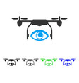Eye spy drone flat icon vector image