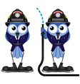 FIREFIGHTER HOSE vector image vector image