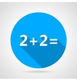 Flat icon for mathematics vector image vector image