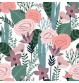 floral seamless pattern design for vector image vector image