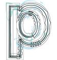 Font letter p vector image vector image