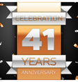 Forty one years anniversary celebration golden and vector image vector image