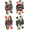 four queens french inspiration without cards vector image vector image