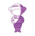 gir wearing a kimono icon vector image