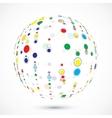 globe consist color circles vector image vector image