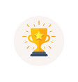 gold cup trophy icon winner award sign first vector image