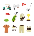 Golf Equipment Flat Set vector image vector image
