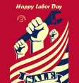 Happy labor day vintage banner or poster