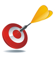icon target dart vector image vector image