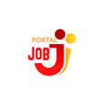 j letter icon for job search portal vector image vector image