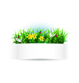 label with natural theme vector image vector image