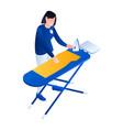 laundry ironing service icon isometric style