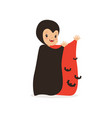 little boy dressed as a vampire cute kid in vector image vector image