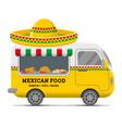 mexican street food caravan trailer vector image vector image