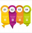 modern paper tag infographic elements four colors vector image