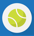 of sport symbol on tennis flat vector image vector image