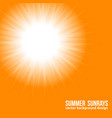 orange sun bright sunset sky orange background vector image