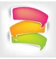 Paper origami speech bubble vector image vector image