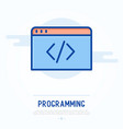 programming thin line icon vector image