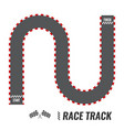racing background top view start or finish vector image