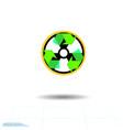 radioactive waste recycling icon recycle arrows vector image vector image