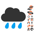 rain cloud icon with dating bonus vector image