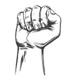 raised hand up clenched into a fist icon cartoon vector image vector image