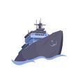 realistic big ship vector image