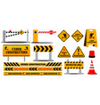 road barrier highway sign or under construction vector image vector image