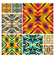 Seamless mosaic pattern Geometric background vector image