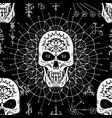 seamless pattern with evil skull vector image vector image