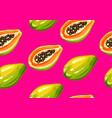 seamless pattern with papaya of vector image vector image