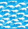 seamless wave pattern with sea foam vector image vector image