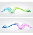 Set of color transparent smoke wave vector image