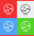 set of logos with swiss alps vector image