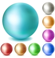 Set of multicolored matte spheres vector image vector image