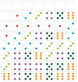 set of white domino vector image vector image