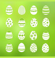 spring decorative eggs set collection vector image