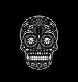 stencil decorative sugar skull vector image vector image